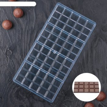 Форма для шоколада плитка, 60 ячеек