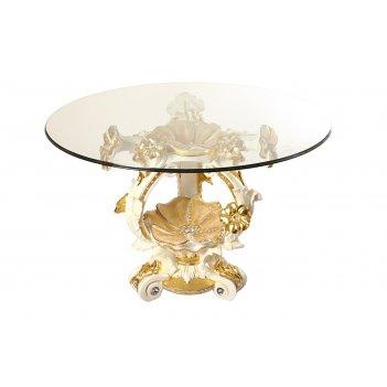 Стол+стекло высота=86 см.диаметр=135 см. (2кор=1комп.)