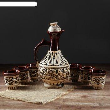 Штоф с рюмками греческий набор 7 предметов, 1,2 л