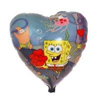 Шар фольга 18 сердце губка боб с сердцами фм