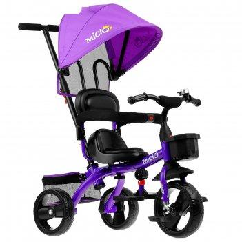 Велосипед трехколесный micio gioia, колеса eva 10/8, цвет фиолетовый