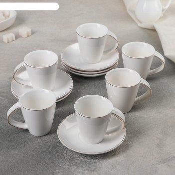 Сервиз кофейный 12 предметов грация бенфей 90 мл