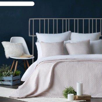 Комплект «поинт»: покрывало 230x250 см, наволочки 45x45 см-2 шт, розовый