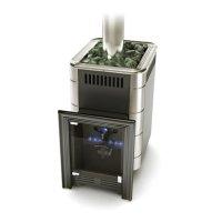 Печь для бани газовая термофор уренгой-2 inox, антрацит, без газо-горелочн