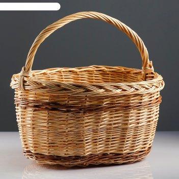 Корзина «калина», 45x30x24/42 см, ручное плетение, ива