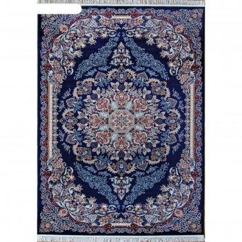 Прямоугольный ковёр isfahan d512, 160x220 см, цвет navy