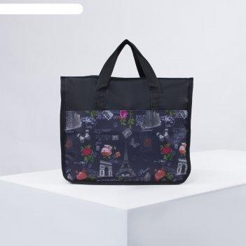 704б/600д сумка хоз, 39*17*32, отд на молнии, черн. париж