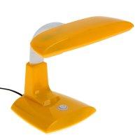 Лампа настольная g23, h=25 см, (v220/9 вт) с выкл.желтая