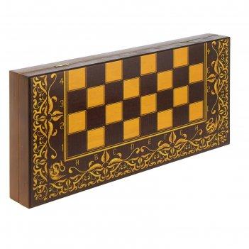 Шахматы дракон (доска дерево 40х40 см, фигуры дерево, король h=9.5 см)