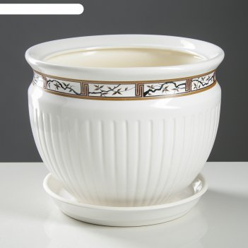 Горшок антика №1 5,0л сакура белый