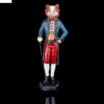 Сувенир кот-маркиз с тростью