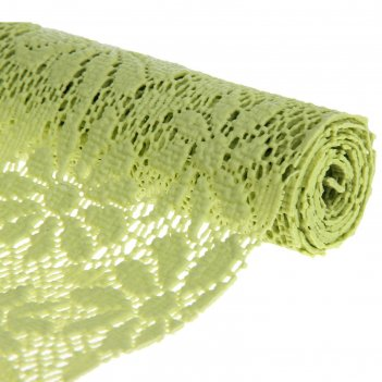 Коврик противоскользящий 30х100 см цветы, цвет зеленый
