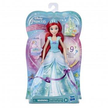 Кукла принцесса в платье с кармашками f0158