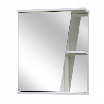 Шкаф-зеркало астра правое, цвет: белый материал - лдсп