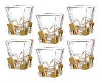 Набор стаканов для виски из 6 шт.крэк голд 250 м...