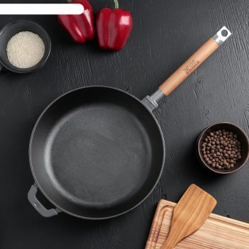 Сковорода-сотейник чугунная, 26 см со съемной ручкой