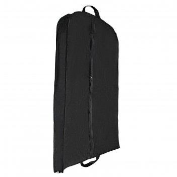 Чехол для одежды зимний 140х60х10 см, цвет черный