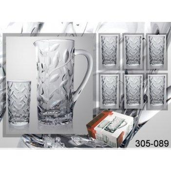 Набор для сока лаурус 7 пр.: графин 1200 мл+6 стаканов 250 мл