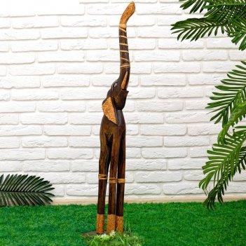 Интерьерная статуэтка слон 100 см