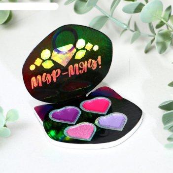 Тени для девочки мур-мяу! 4 цвета по по 1,3 гр