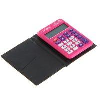 Калькулятор карманный 8разр, 58*87*12мм, пит.от батарейки, розовый lc-110n