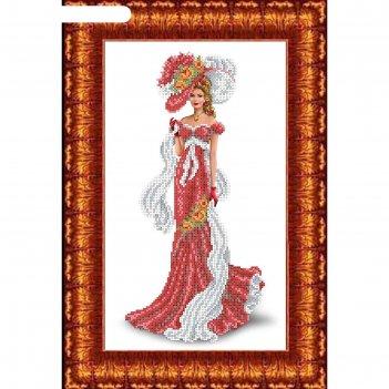 Набор для вышивания бисером «дама с шарфом»