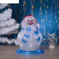 Фигура акрил. снеговик весельчак 30х17 см, 30 led, 220v белый
