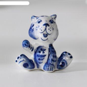 Сувенир тигр тигруля, гжель