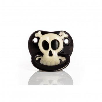 Пустышка забавная, силиконовая классическая «маленький пират», от 3 мес.