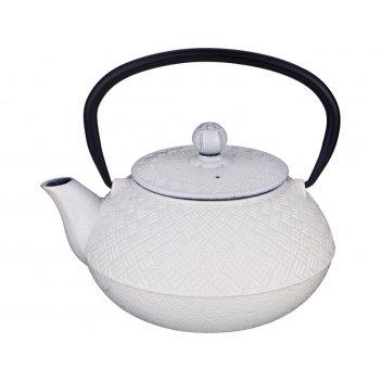 Заварочный чайник чугунный с эмалированным покрытием внутри 800 мл.