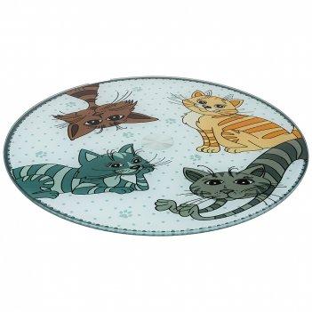 Тортовница вращающаяся озорные коты диаметр=32 см высота=3 см (кор=12шт.)