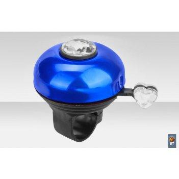 43az-09 звонок с бриллиантом алюминий чёрно-синий