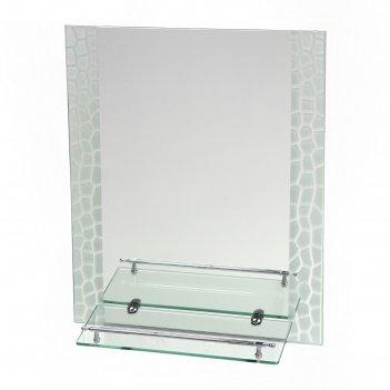 Зеркало в ванную комнату 60x45 см ассоona a625, 1 полка