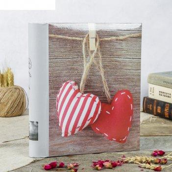 Фотоальбом магнитный 30 листов любовь 23x28см микс