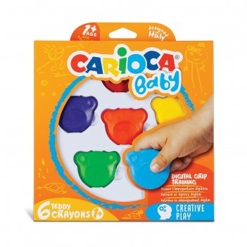 Мелки цветные 6шт carioca baby 42956