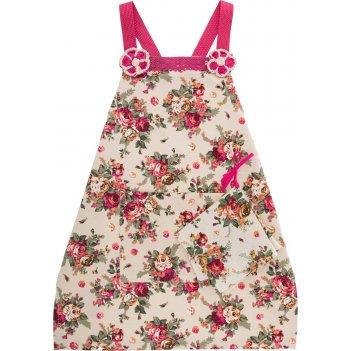Фартук c  косынкой розовый сад,детский, хлопок 1...