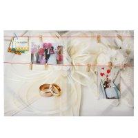 Картина для создания фотоколлажа свадебная 40*60 см