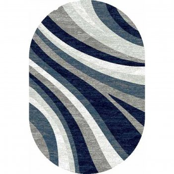 Ковёр бцф пп silver d234, 0,6*1,1 м, овал, gray