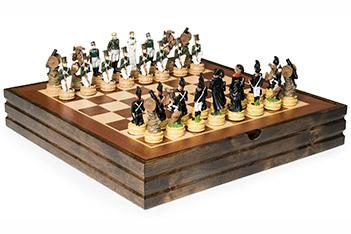 Шахматы бородино россия-франция (металл) 36х36см