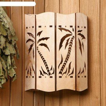 Абажур деревянный пальмы