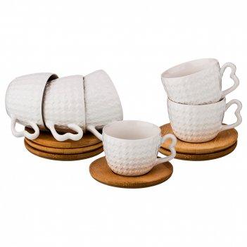 Кофейный набор на 6 персон 12 пр. коллекция black & white 120 мл (кор=