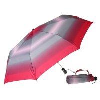 Зонт 23, женский полный автомат (бордово-серый)