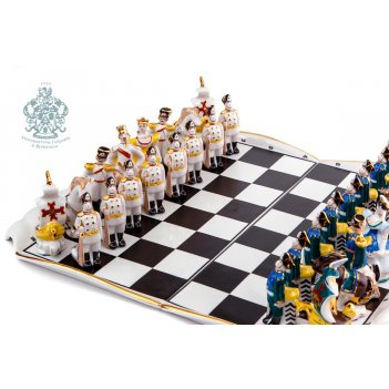 Шахматы президентский полк из фарфора