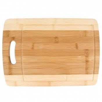 Доска разделочная 23*1*32,5см. (бамбук, обработанный) (упаковочная пленка)