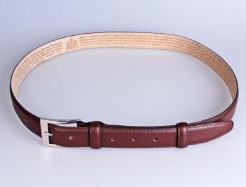 00213 пояс ремень  кожаный узкий, трехслойный, прошитый, не прошитый. шири