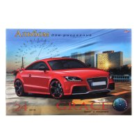 Альбом для рисования а4, 24 листа на скрепке красное купе блок-офсет 100г/
