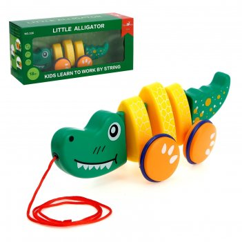 Каталка на верёвке «крокодил»