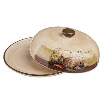 Блюдо для блинов с крышкой высота=10 см.диаметр=23 см.