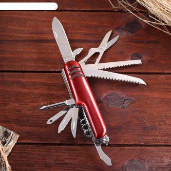 Нож швейцарский мастер к. 11в1, красный