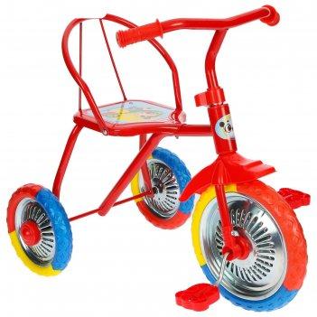 Велосипед трехколесный micio tr-313, колеса 10/8, цвет микс